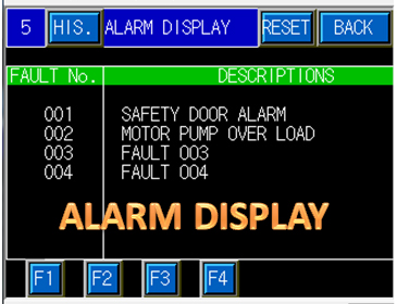 HMI PLC Mitsubihsi Alarm Display