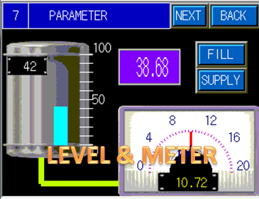 HMI PLC Mitshbishi Tank Level