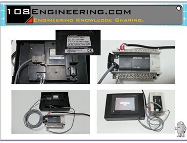 HMI PLC Mitsubishi Wiring